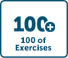 100s of Exercises